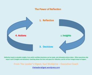The Power of Reflection Four Step Cycle, The Leader's Digest, by Suzi McAlpine