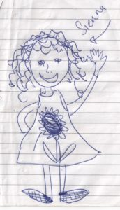 Doodle of my four year old daughter, Sienna, The Leader's Digest