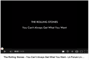You can't always get what you want, The Rolling Stones