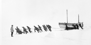 Hauling-a-boat-over-ice-The-Ernest-Shackleton-Exhibition-at-Manchester-Central-LibrarySMALL